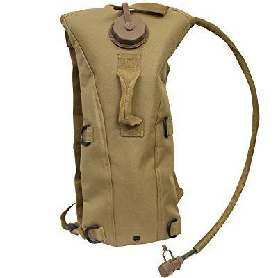 sas hydration system bladder water bag pouch backpack for hunting hiking climbing (tan)