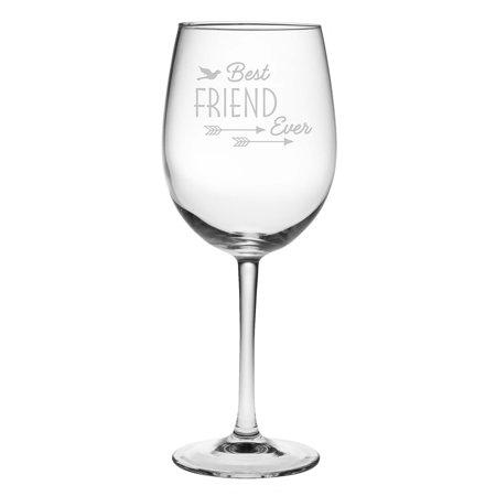 Susquehanna Glass Best Friend Ever Wine Glass (Set of