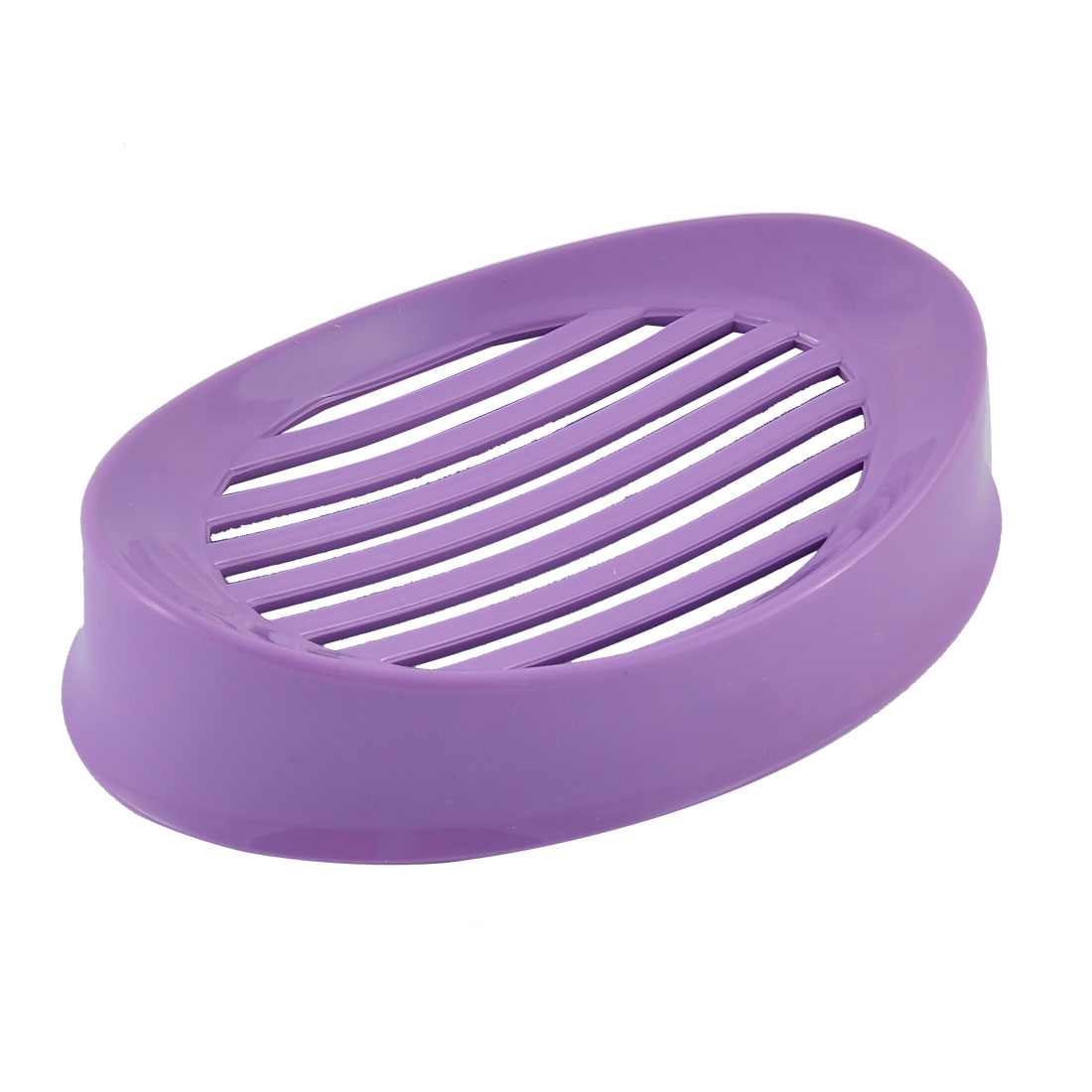 Uxcell Household Bathroom Plastic Hollow Out Soap Holder Container Box Case Purple