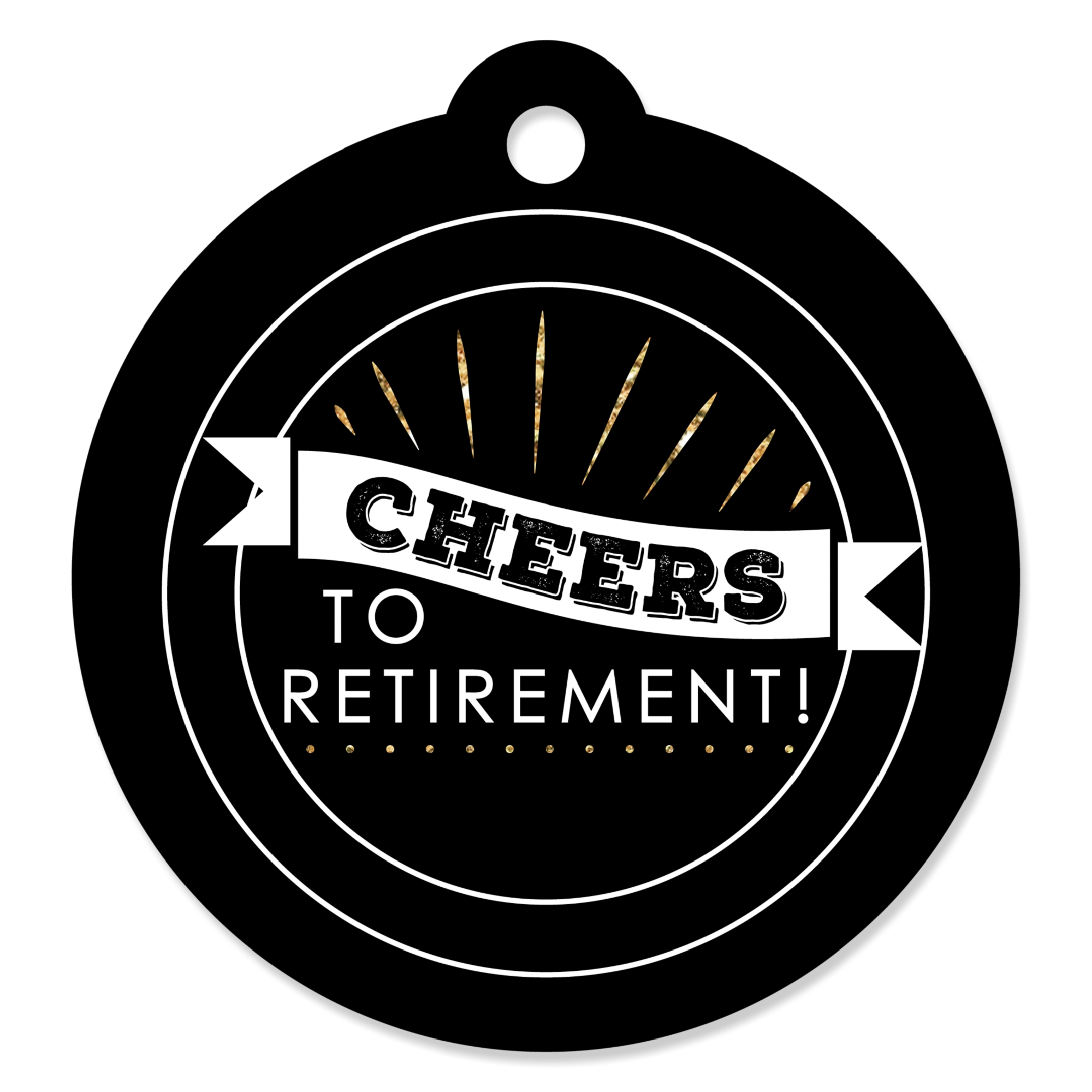 Happy Retirement - Retirement Party Favor Gift Tags (Set of 20)