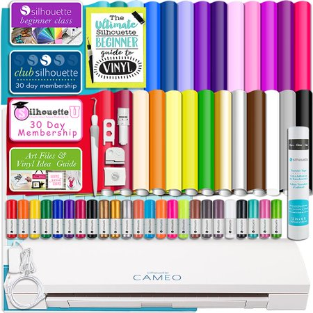 Hematite Cameo - Silhouette Cameo 3 Bluetooth Bundle 26 Oracal 651 Sheets, Guides, 24 Pack Sketch Pens, and More