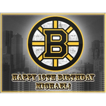 Single Source Party Supply - Boston Bruins Edible Icing Image #1-8.25