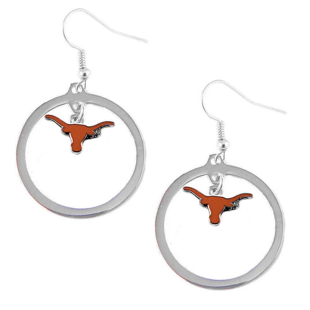 Texas Longhorns Hoop Sports Team Logo Earring Set NCAA Charm