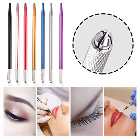 Girl12Queen Pro Permanent Eyebrow Tattoo Manual Pen Microblading Pencil Machine Makeup Tools