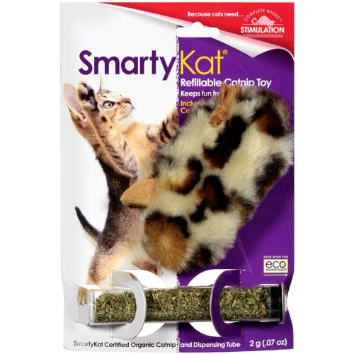 Smarty Kat: Certified Organic Catnip And Dispensing Tube Toy, 1 Ct