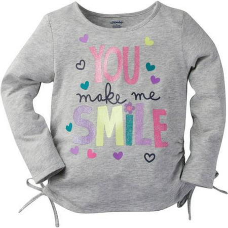 1c8a88991 Gerber Childrenswear Llc - Graduates Baby Toddler Girl Side Tie Graphic Long  Sleeve T Shirt - Walmart.com