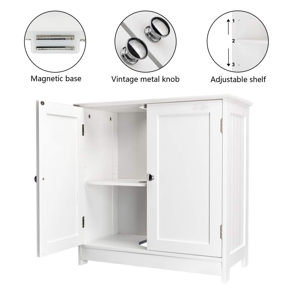 Ubesgoo Under Sink Storage Bathroom Vanity With 2 Doors