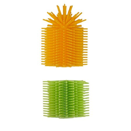 Spike Silicone Fidget Tactile Pencil Topper & Grip Combo Pack - Sensory Motor Aid for School, Home, Work, (Yellow/Green)](Fidget Pencil Toppers)