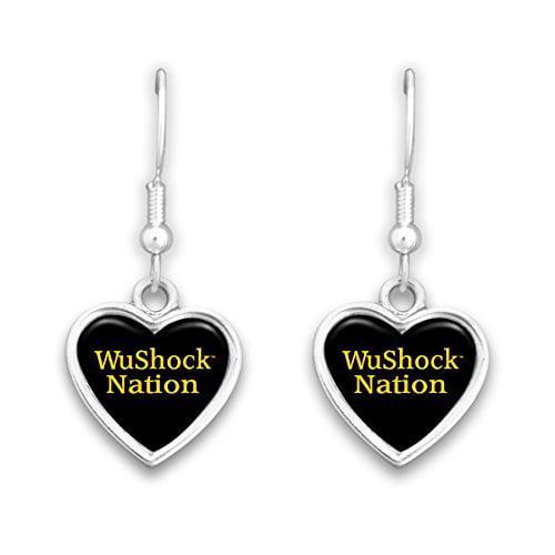 Wichita State Shockers Heart Slogan Earrings