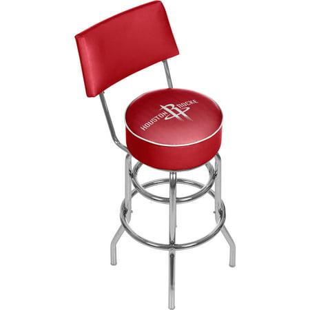 NBA Swivel Bar Stool with Back - City - Houston Rockets ()