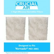 2 Crucial Air Humidifier Wick Filters Fit Vornado MD1-0002, Part # MD1-0002