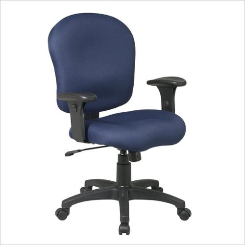 Office Star Task Office Chair with Saddle Seat and Adjustable Arms-Ebony