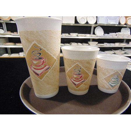SafePro 12 oz Insulated Foam Cups, Stock Printed, Disposable Coffee Cups, Hot Cups, 250 count