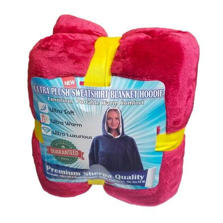 2 Comfy Hoodie Sherpa - Oversized Blanket Sweatshirt - Hooded, Large Pocket, Reversible - Warm And Luxurious Plush Sherpa Reversible Jacket