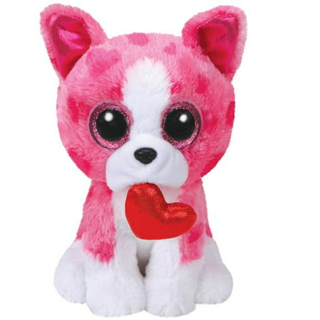 TY Beanie Boos - Valentines Romeo the Pink Dog (Glitter Eyes) Small 6