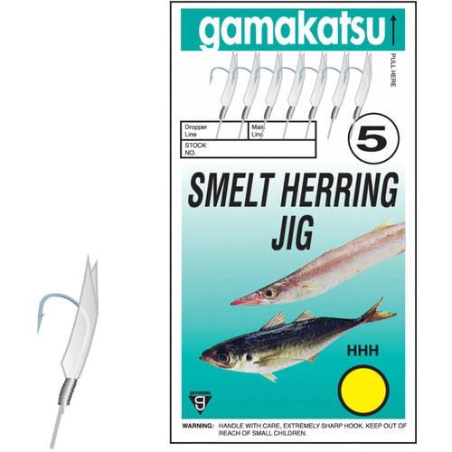 Gamakatsu Jigging Rig, Nickel, Smelt/Herring