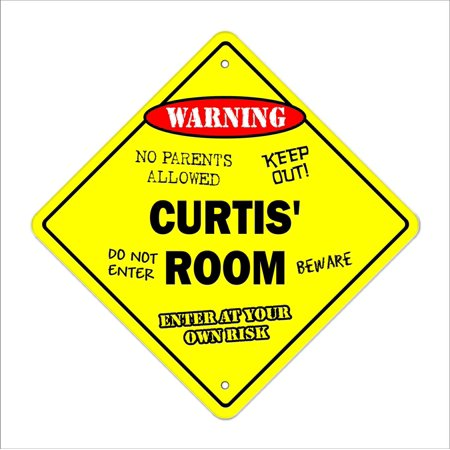 Halloween By Curtis Richards (Curtis' Room Sign Crossing Zone Xing | Indoor/Outdoor | 12