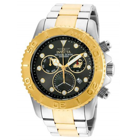 Invicta 20347 Men's Pro Diver Chronograph Gunmetal Dial Two Tone Bracelet Dive Watch