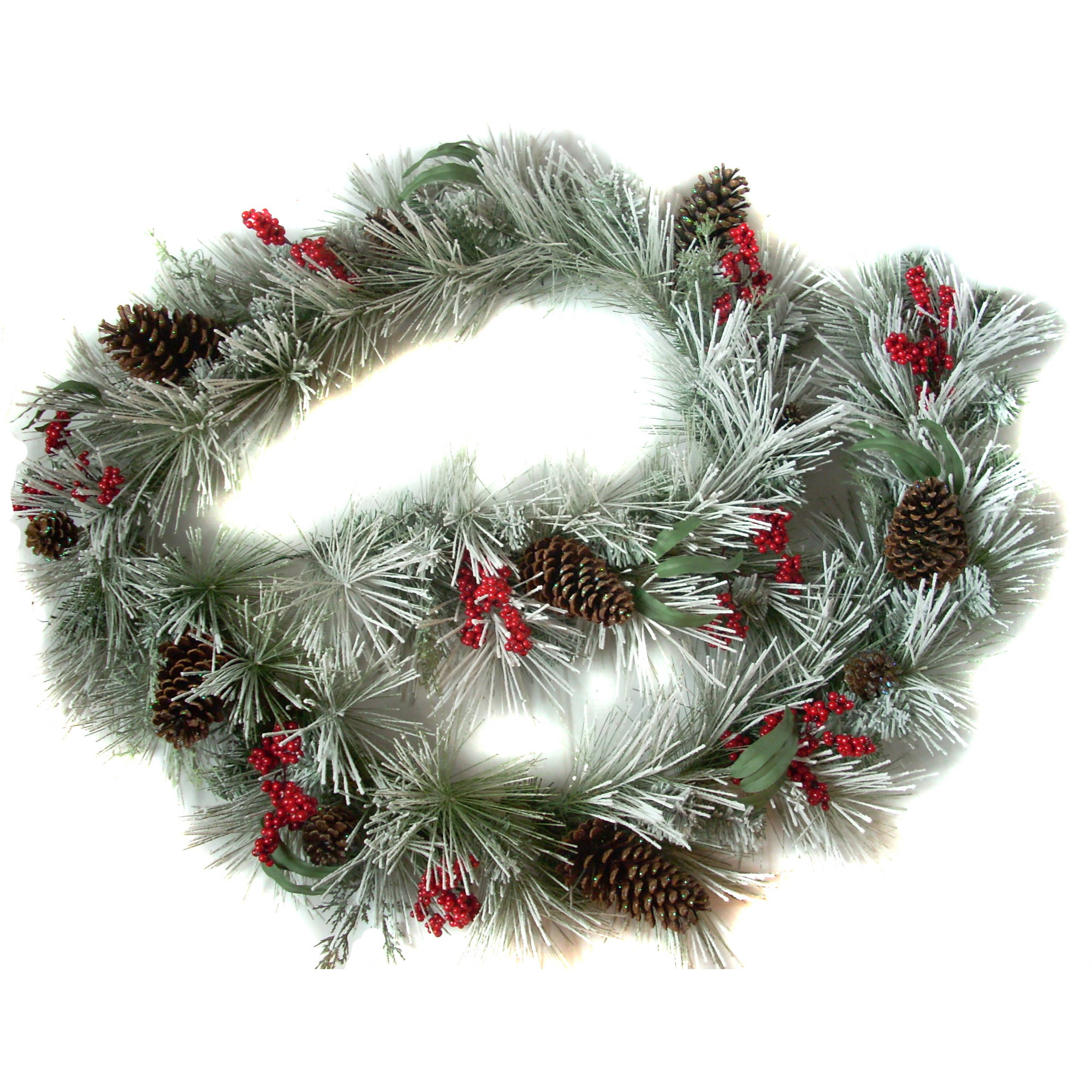 Holiday Time 9' Flocked Garland
