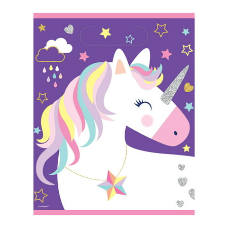 Plastic Unicorn Goodie Bags, - Goodie Bag