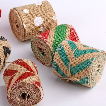 Boyijia 6cm 2m DIY Handmade Colorful Linen Roll Belt Strap Band Handcraft Party Decorative Supplies - image 1 of 9