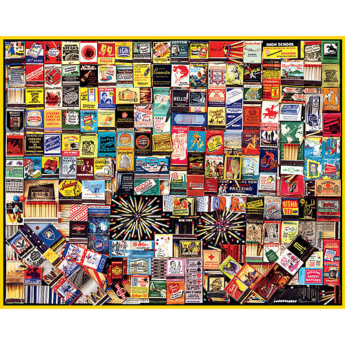 White Mountain Puzzles Matchbox Collage Jigsaw Puzzle, 1000-pieces