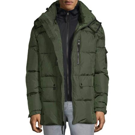 S13 Men's Ashton Matte Nylon Down Jacket with Detachable Hood, up to size 2XL