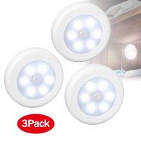 3Pack 6LED Motion Sensor Light, TSV Motion Sensor Night Light Wireless Tap Lamp Stick-On Light Nightlight Closet Light,with FREE 3M Adhesive,for Hallway, Closet, Bathroom, Bedroom, Nursery