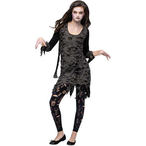 Living Dead Walking Zombie Teen Halloween Costume, Size: Girls' - One Size