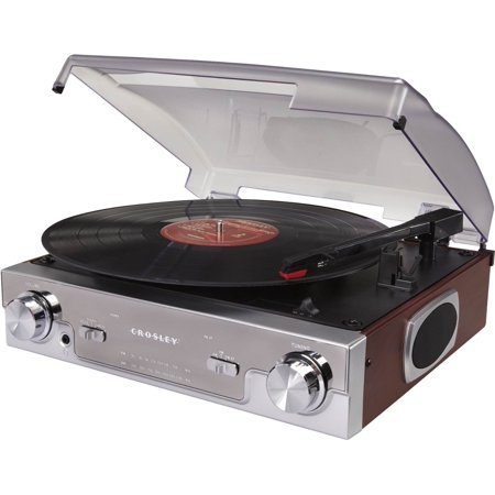 Crosley CR6005A-MA Tech Turntable with AM/FM Radio and Portable Audio Ready