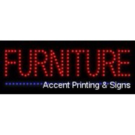 Furniture LED Sign (High Impact, Energy Efficient, Economically Priced) ()