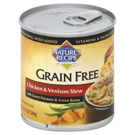(12 Pack) Nature's Recipe Grain Free Chicken & Venison Stew Wet Dog Food, 10-Ounce