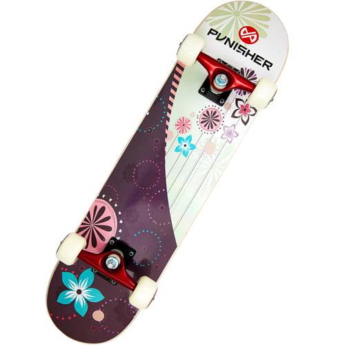 """Punisher Skateboards 31"""" ABEC-5 Complete Skateboard, Soul"""