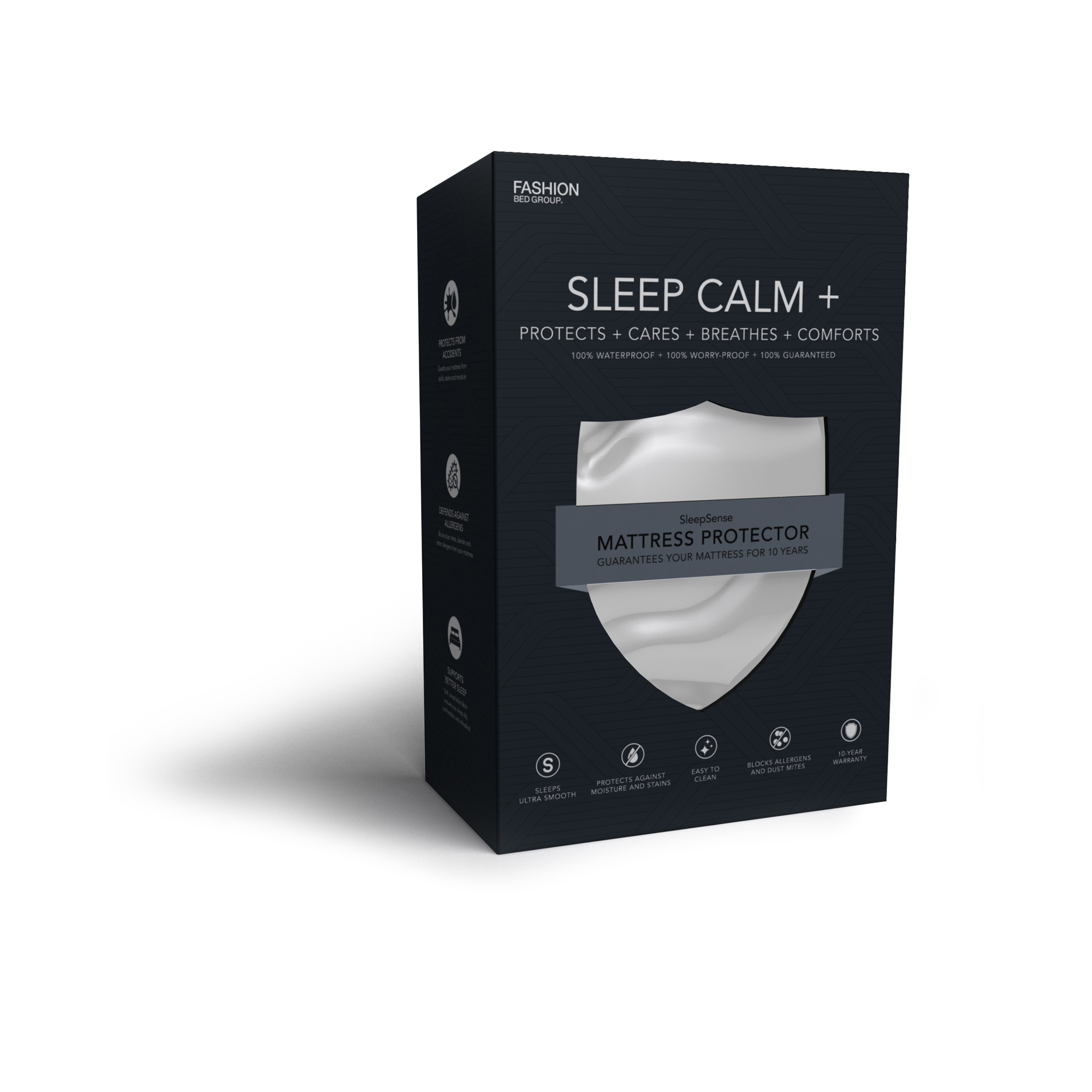 Sleep Calm + Ultra-Premium Mattress Protector Bed SHeet with Moisture and Bacteria... by Fashion Bed Group
