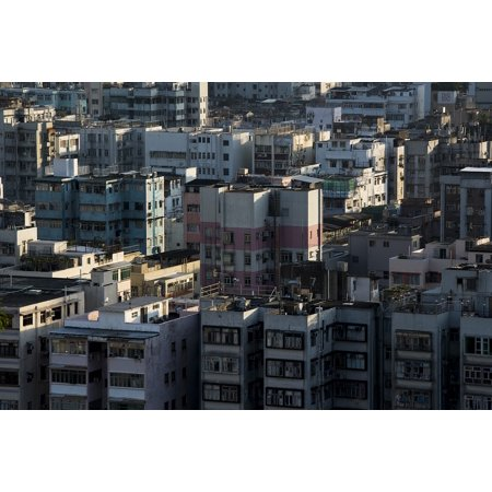 Canvas Print Urban Building Roof Top Light Contrast High-Rise Stretched Canvas 10 x 14 ()
