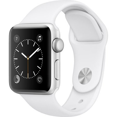 Apple Watch Series 2 Smartwatch 42mm, Silver Aluminum Case/ White Band (Newest Model) - 208 Silver Case Watch