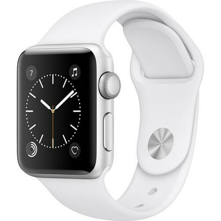 Apple Watch Series 2 Smartwatch 42mm, Silver Aluminum Case/ White Band (Newest Model) (Refurbished)