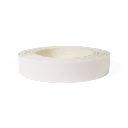 White PVC 3/4' X 25' Preglued Roll, Edge banding, Flexible and Strong PVC Material, Easy Application Iron On with Hot Melt Adhesive. Made In USA.