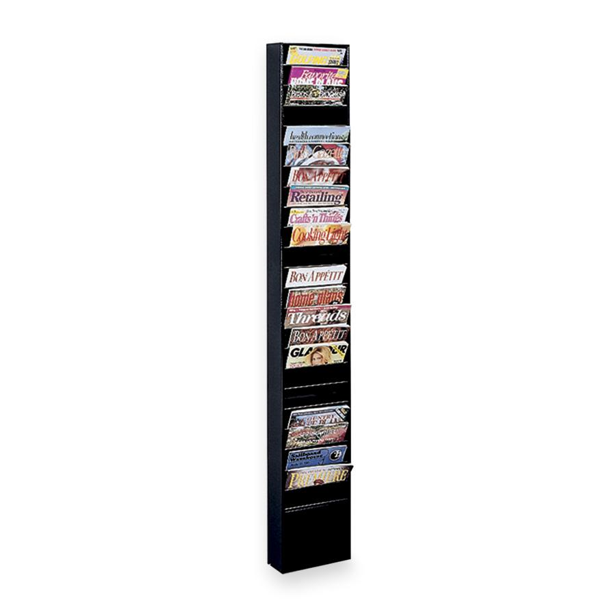 Buddy Black Steel Literature Display Rack by Buddy Products