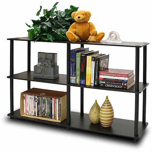 Furinno 99130 Turn-N-Tube No-Tools 3-Tier Double Size Storage Display Rack