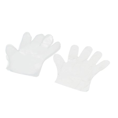100 Pcs Clear Kitchen Food Service Hand Protective Disposable Gloves