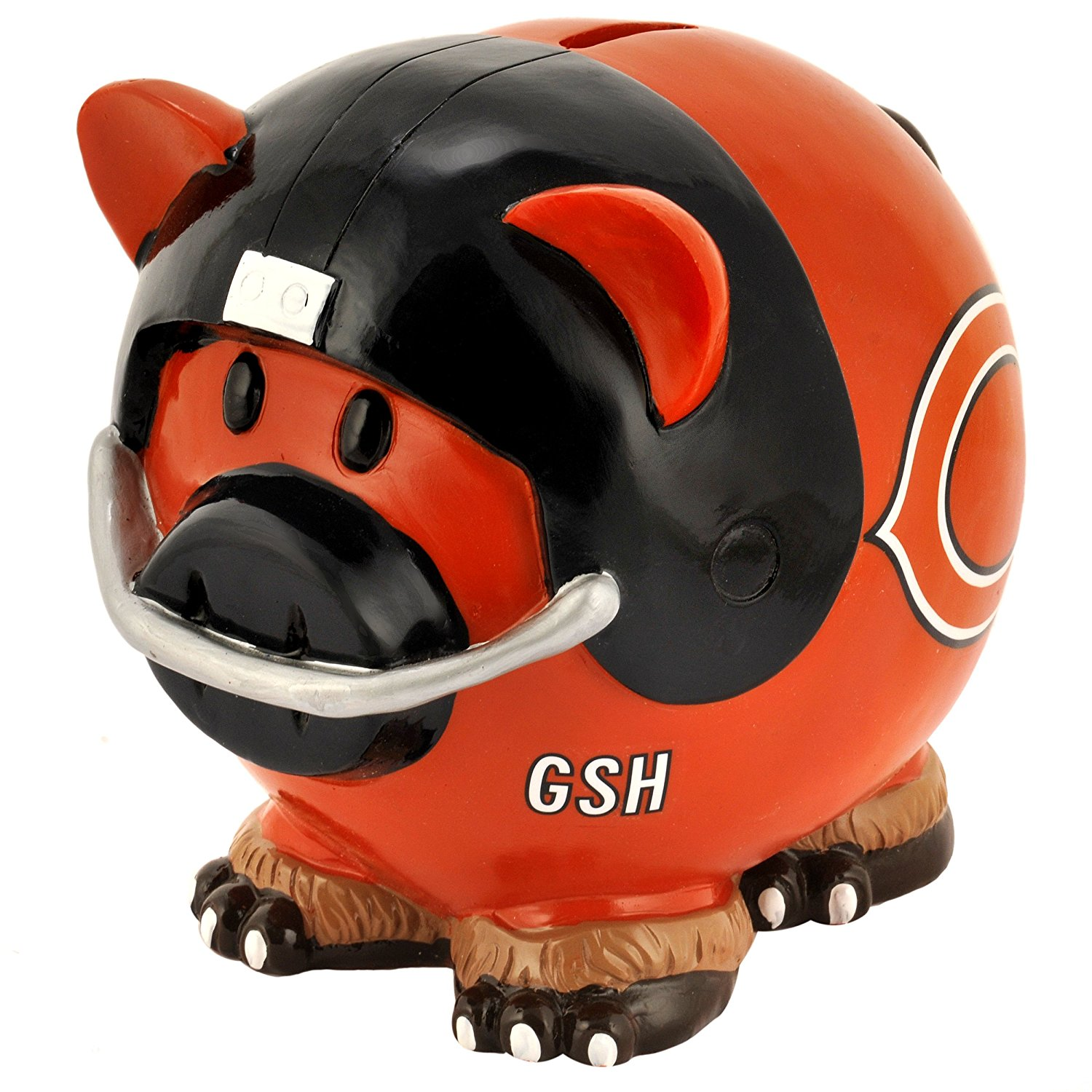 NFL Chicago Bears Resin Large Thematic Piggy Bank, High quality Piggy Bank By Forever Collectibles by