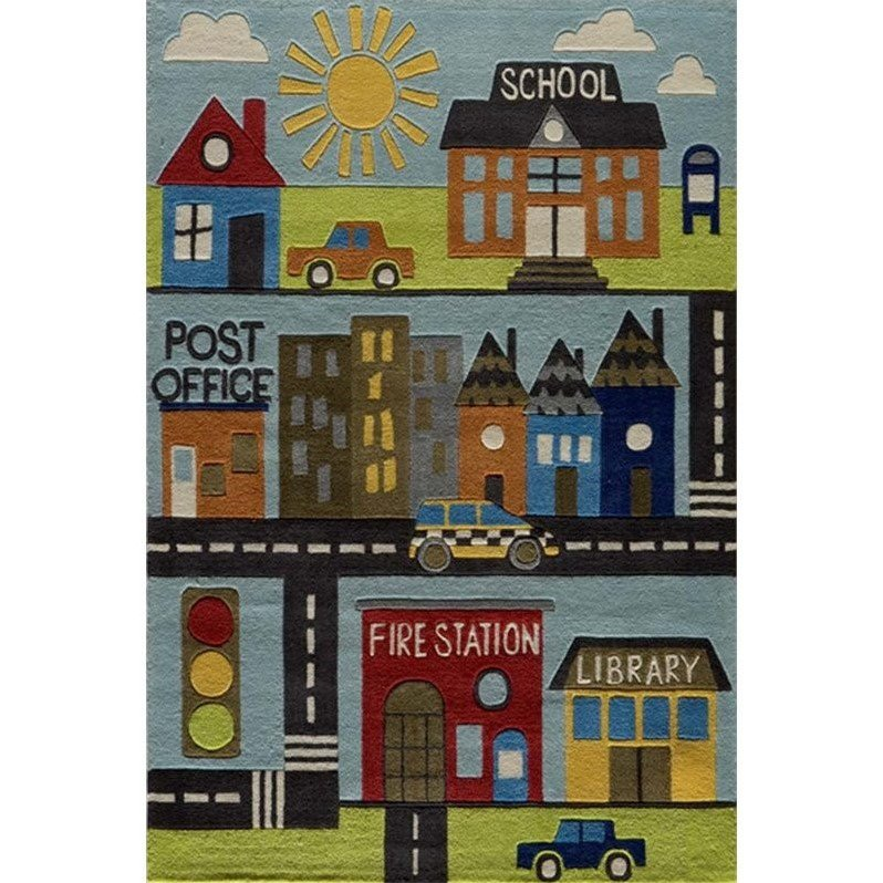 Momeni Lil Mo Whimsy 8' X 10' Rug in Town - image 2 de 2