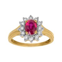 Finecraft 1 1/8 ct Ruby Ring with Diamonds in 10kt Gold