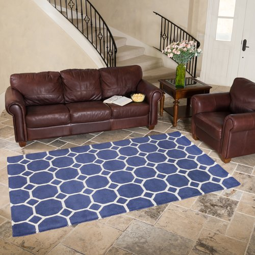 Harbormill Hand-Tufted Blue Area Rug