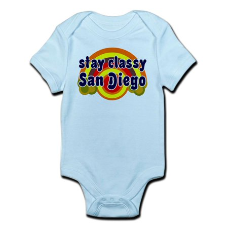 FUNNY SHIRT STAY CLASSY SAN DIEGO T-SHIRT GIFT Inf - Baby Light Bodysuit - T Shirt Onesie For Adults