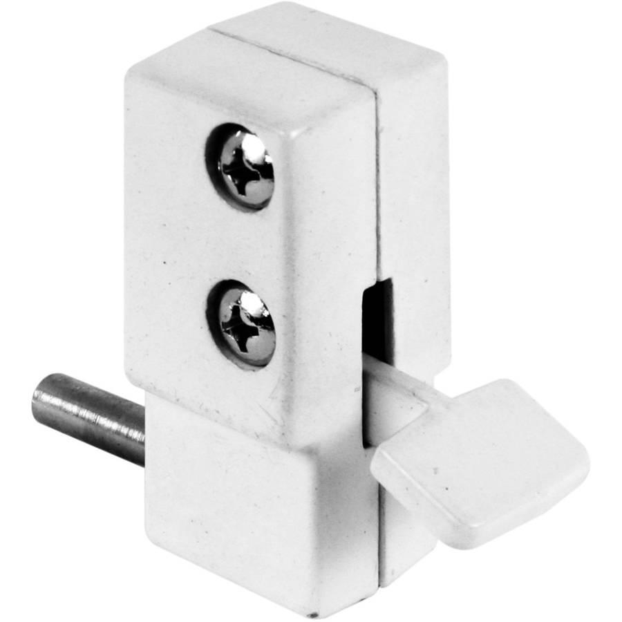 Defender Security U 9865 Sliding Door Lock with Bushing White