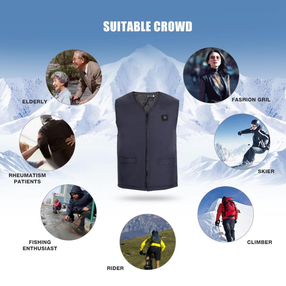 le ski Coupe-vent le cyclisme L/ég/ère OrientalPort Veste chauffante unisexe Pour les voyages USB Pour homme /À capuche les sports automobiles
