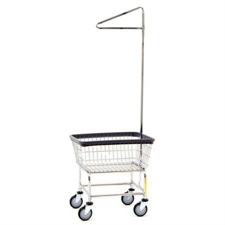 Narrow Laundry Cart w/ Single Pole Rack (Single Poly Rack)