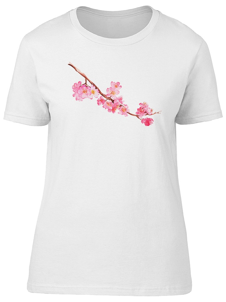 Feminine White Sakura Cute Pink Crop Top